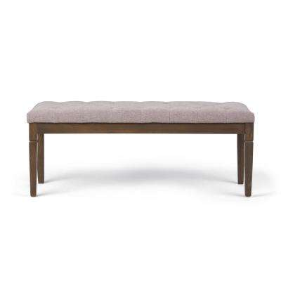Waverly Cloud Grey Tufted Ottoman Bench