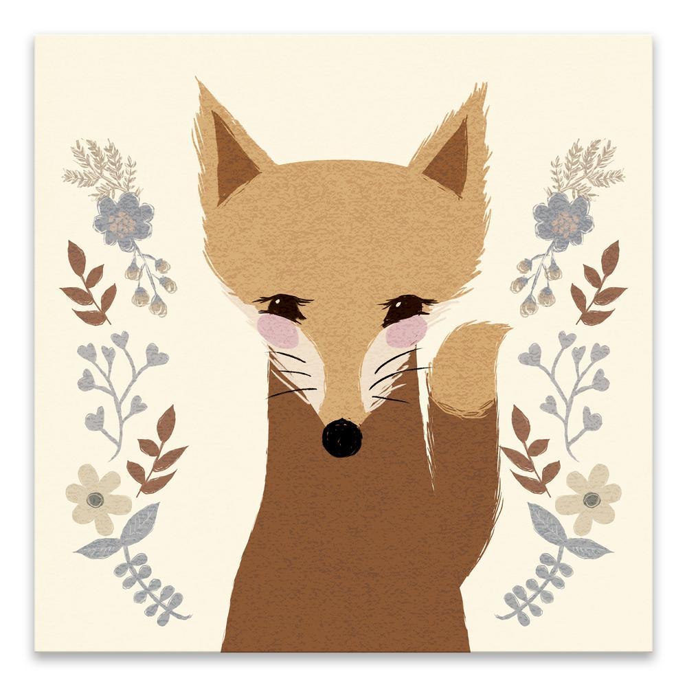 """Sweet Fox"" by Lot26 Studio Printed Canvas Wall Art"