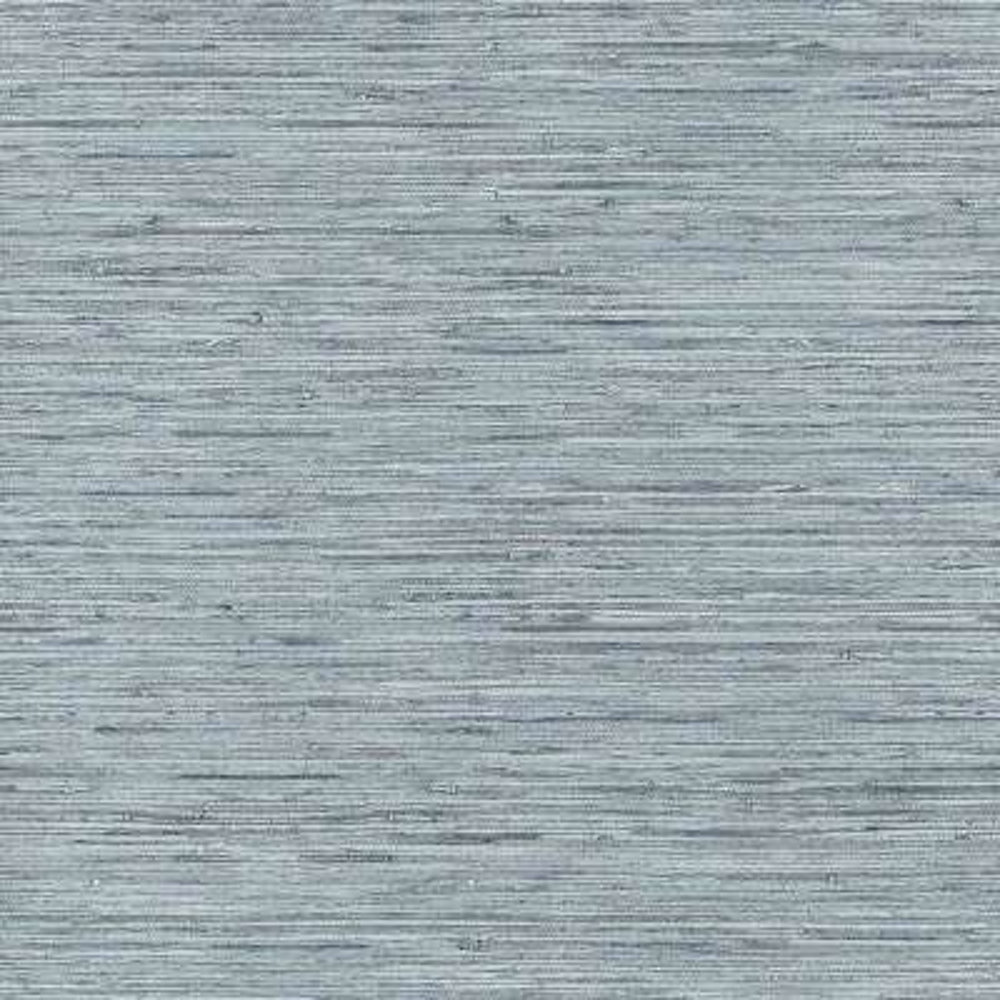 Grasscloth Blue, Grey Vinyl Peelable Roll (Covers 28.18 sq. ft.)