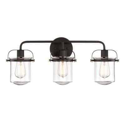 Jaxon 3-Light Oil Rubbed Bronze Interior Bar Bath Light