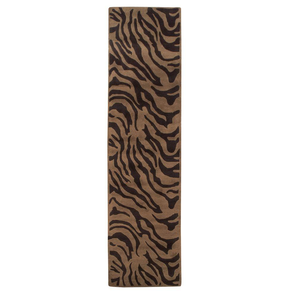 Home Decorators Collection Zebra Mocha 2 ft. 6 in. x 10 ft. Rug Runner