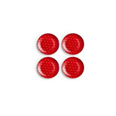 Soiree Rouge Red Plates (Set of 4)