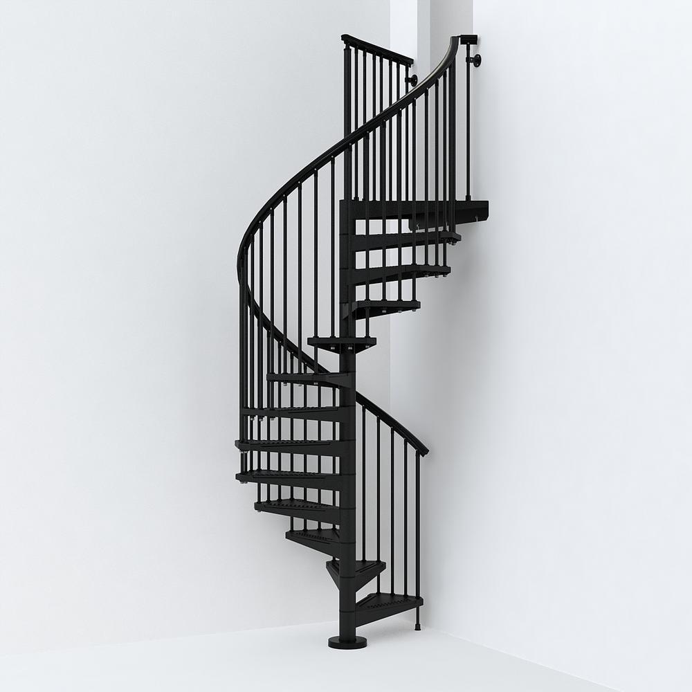 SKY030 55 in. Black Spiral Staircase Kit