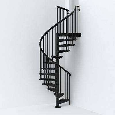 SKY030 55 in  Black Spiral Staircase Kit