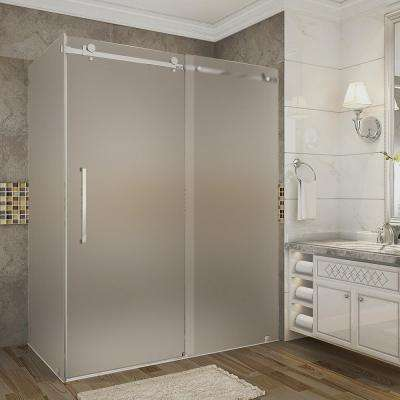 30 36 Frosted Shower Doors Showers The Home Depot