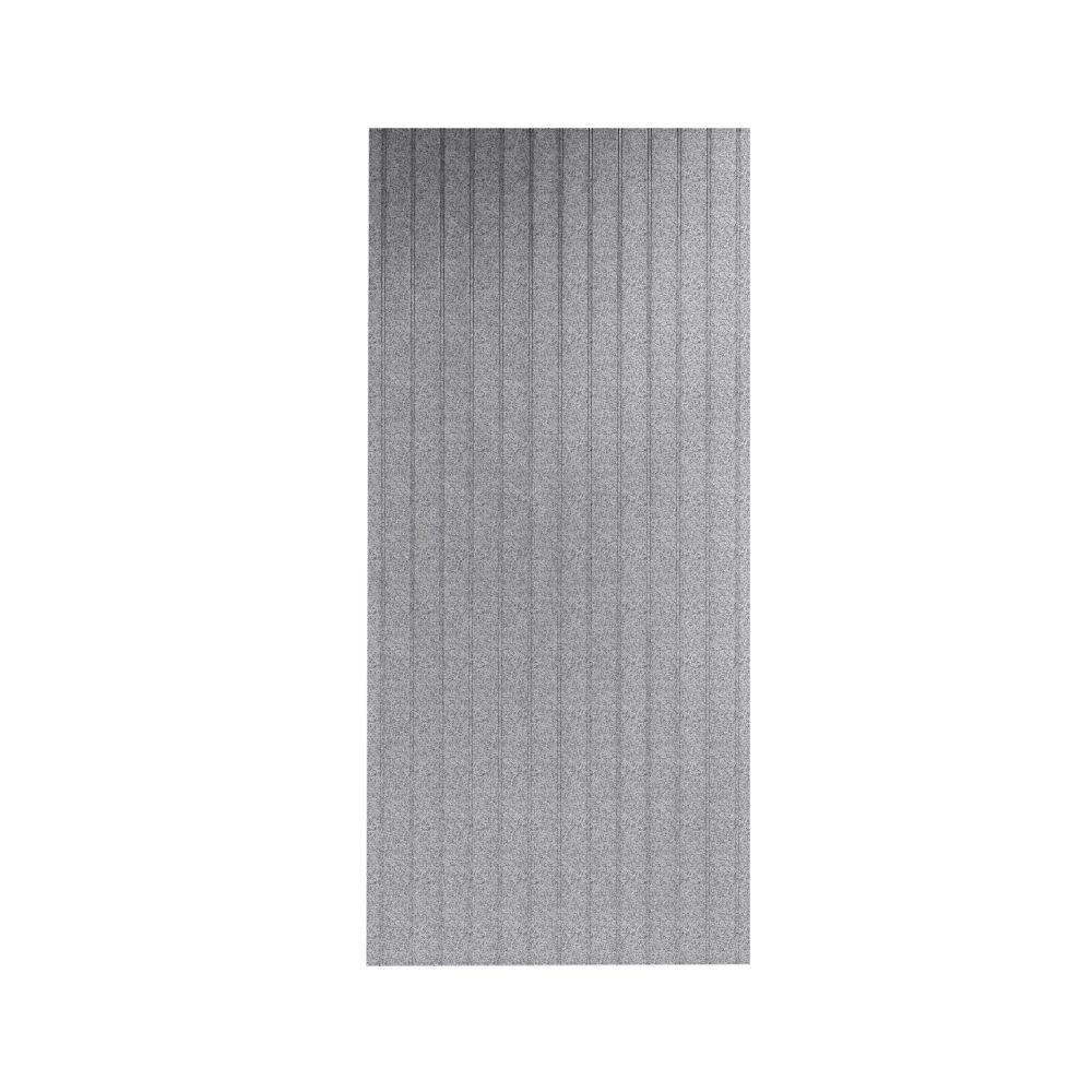 Swan Beadboard 1/4 in. x 36 in. x 96 in. One Piece Easy Up Adhesive Shower Wall in Gray Granite-DISCONTINUED