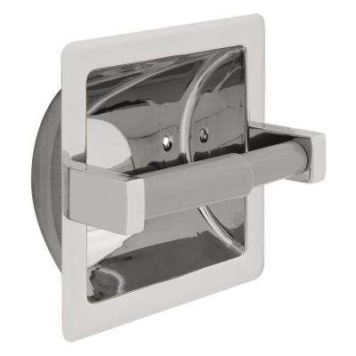 Century Recessed Toilet Paper Holder in Stainless Steel