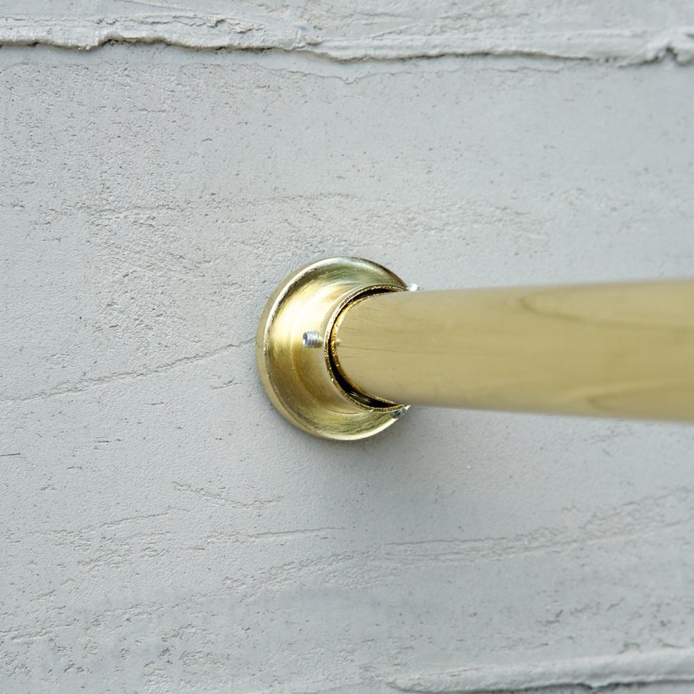 120 in. - 150 in. Premium Tension Curtain Rod in Gold