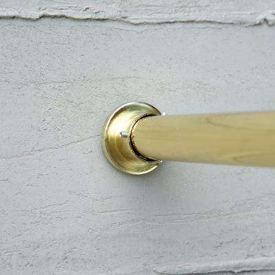 80 in. - 120 in. Premium Tension Curtain Rod in Gold