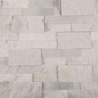 Iceland Gray Ledger Panel 6 in. x 24 in. Natural Travertine Wall Tile (10 cases /60 sq. ft. / Pallet)