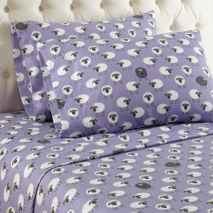Click here to buy  4-Piece Sheep Lavender King Sheet Set.
