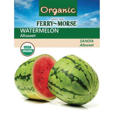 Watermelon All-Sweet Organic Seed