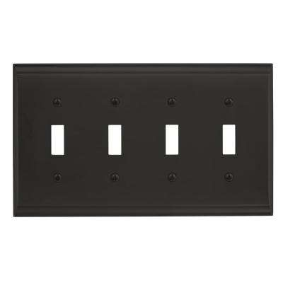 Candler 4-Toggle Wall Plate, Black Bronze