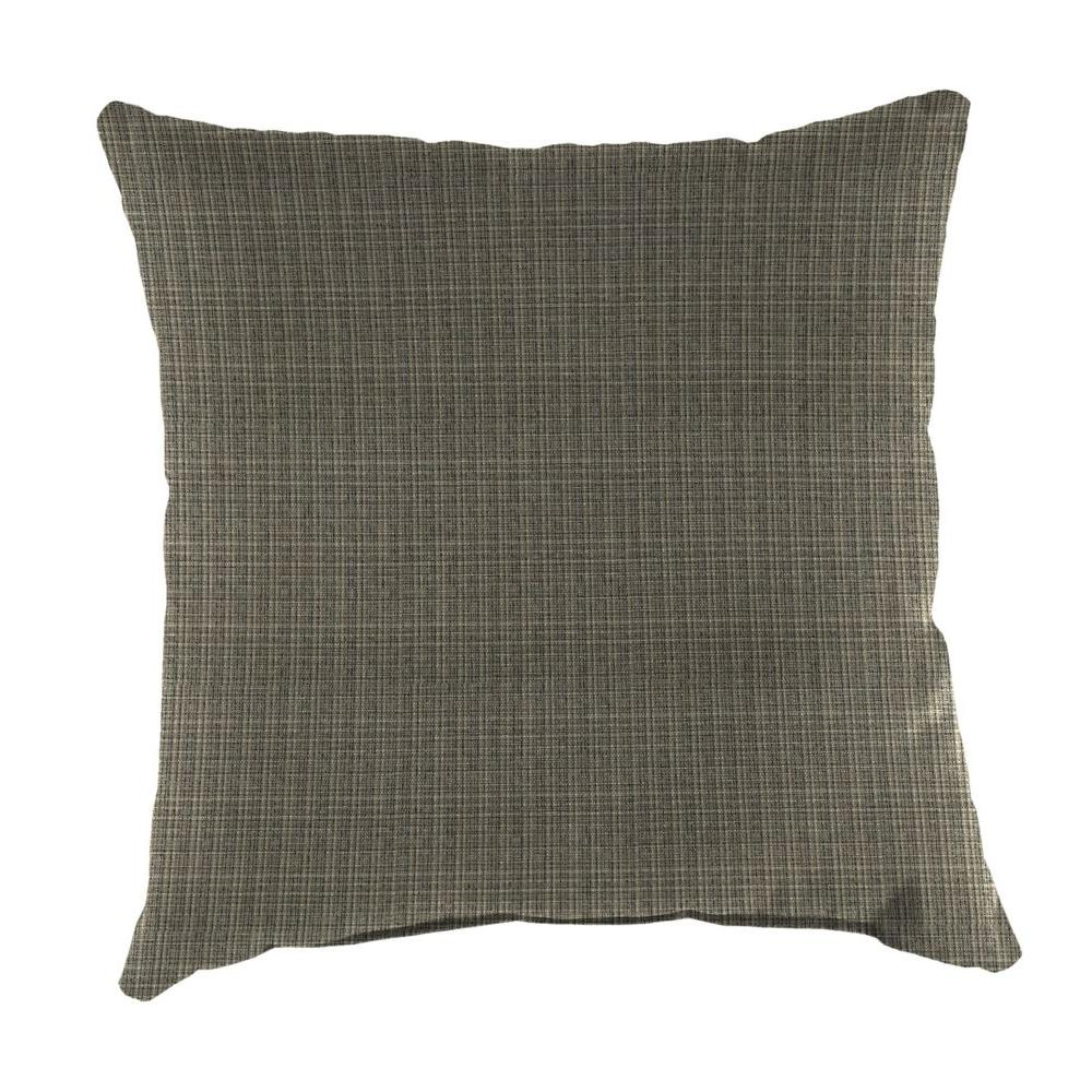 Surge Charcoal Square Outdoor Throw