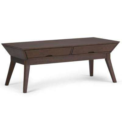 Tessa Walnut Brown Coffee Table