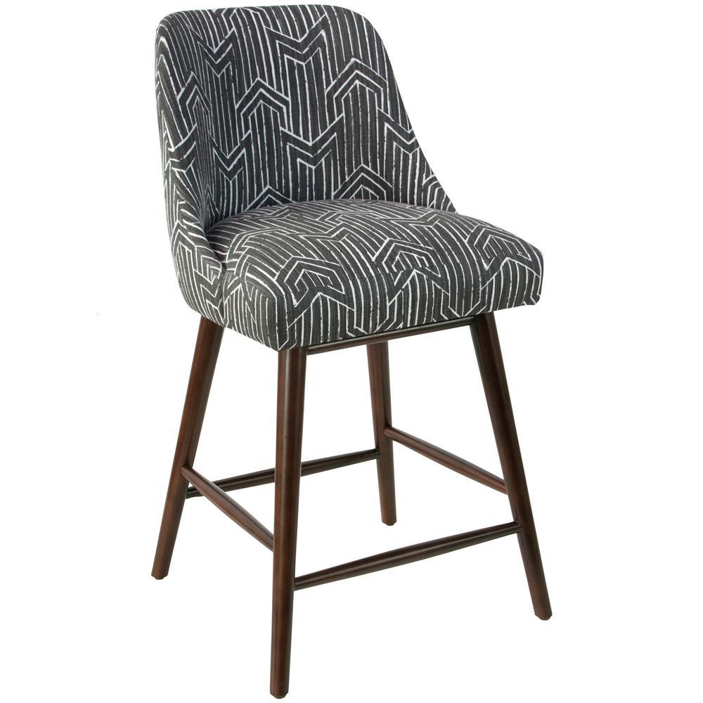 Ashley Furniture Toledo: Skyline Furniture Toledo Graphite Lux Swoop Arm Counter