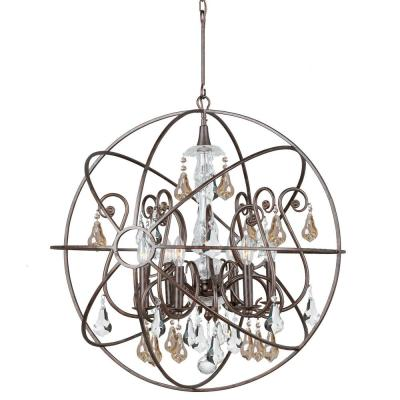 Edison Jackstone Collection 12 Light Bronze Indoor Chandelier Ld4023