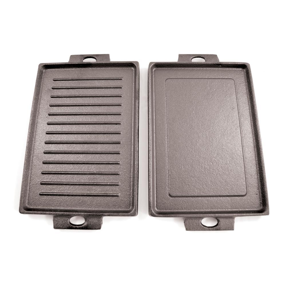 8 in. Mini Cast Iron Rectangular Dual Griddle