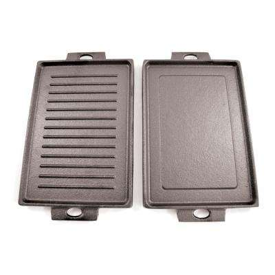 8 in. Mini Cast Iron Rectangular Dual Griddle