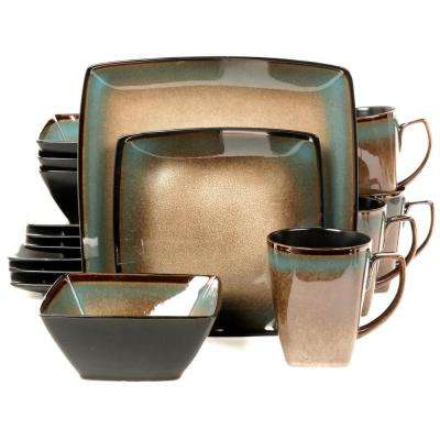 Tequesta 16-Piece Taupe Dinnerware Set