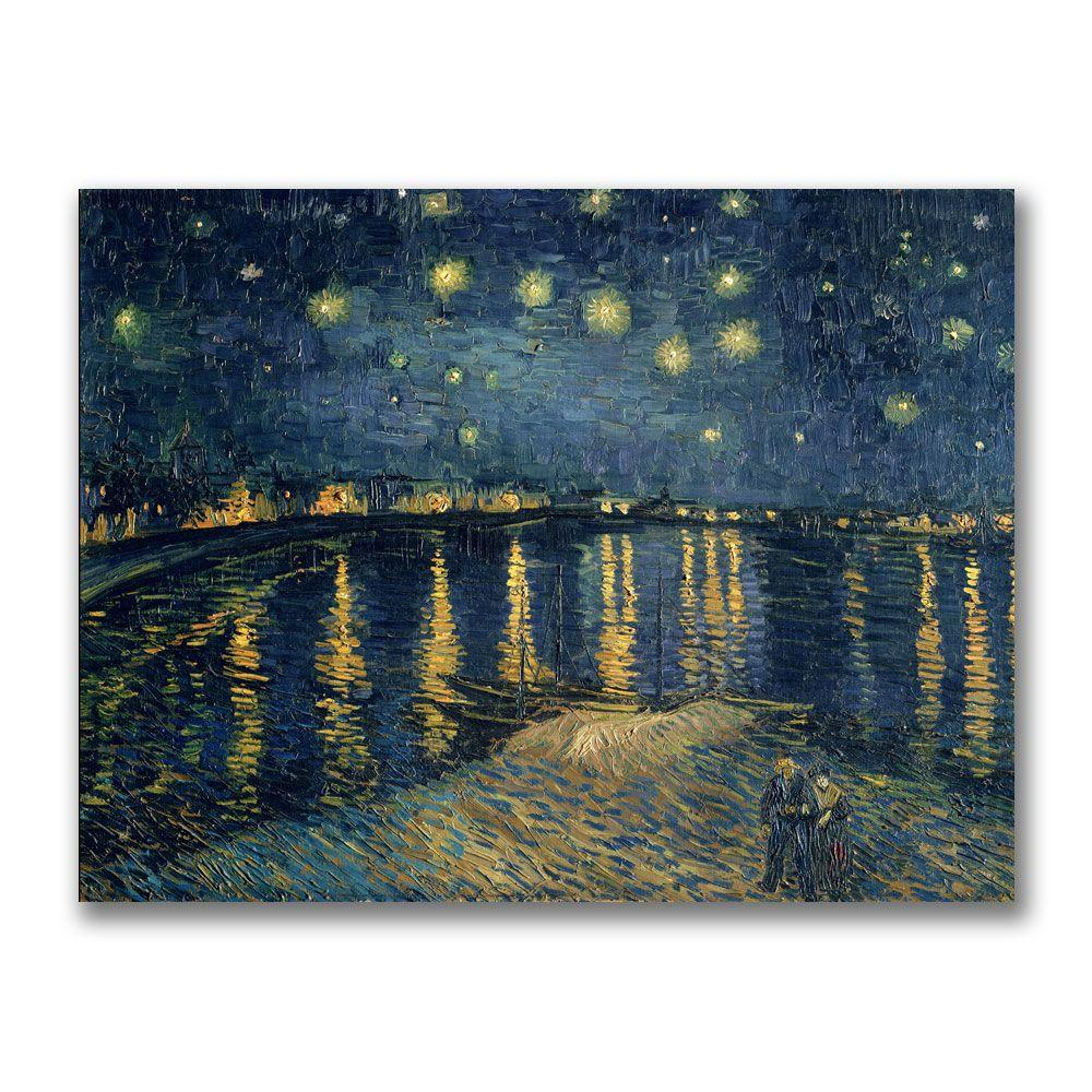 Trademark Fine Art 18 in. x 24 in. The Starry Night II Canvas Art