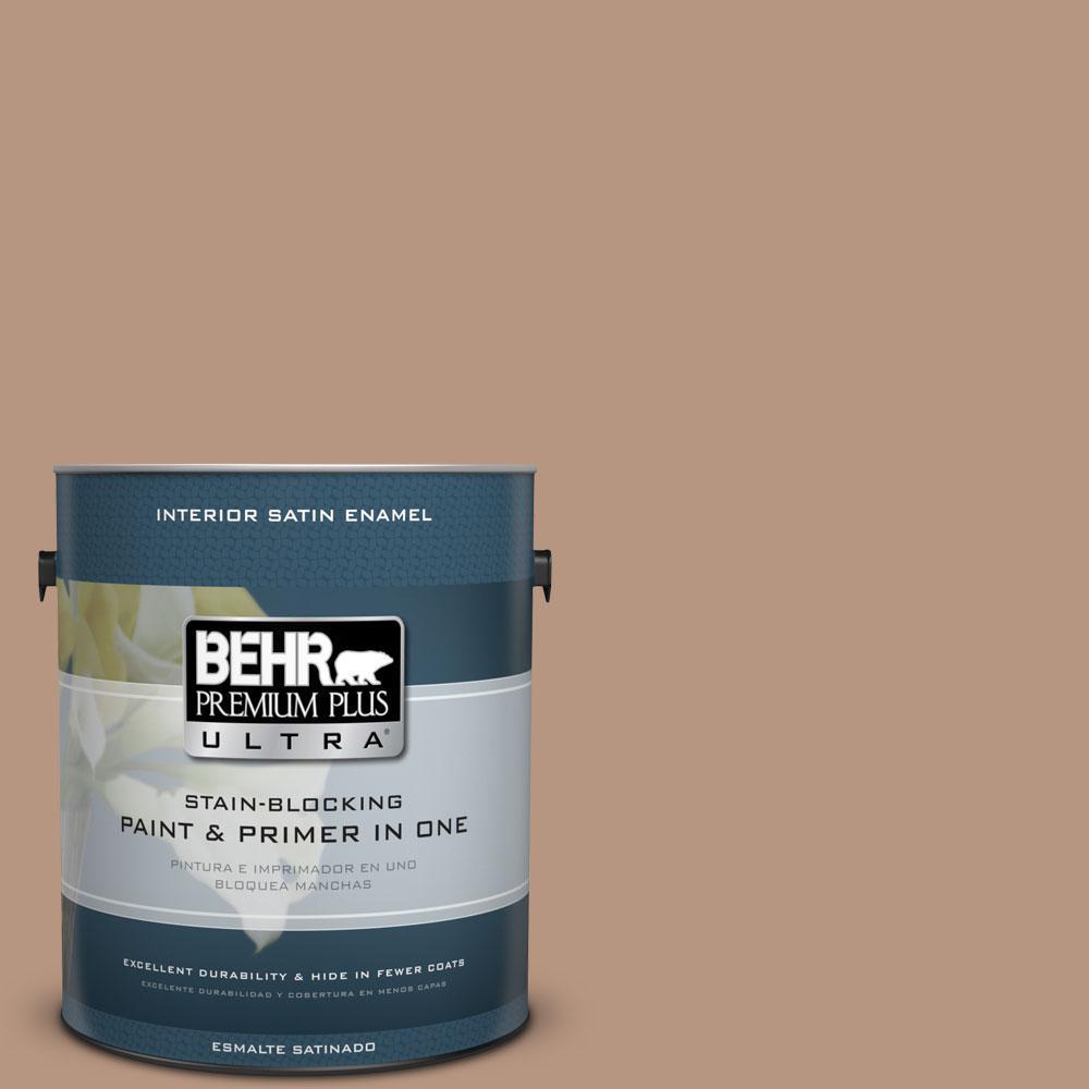 1-gal. #S220-4 Potter's Clay Satin Enamel Interior Paint