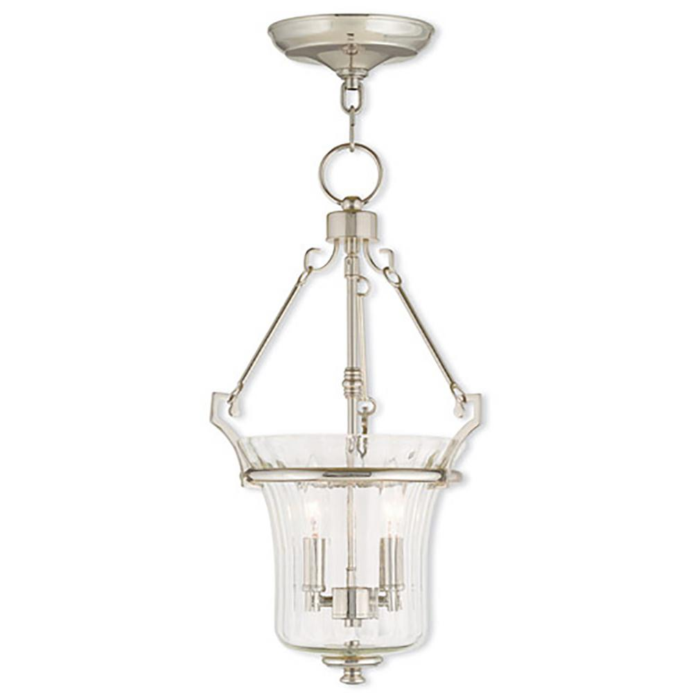 Livex Lighting Cortland 2-Light Polished Nickel Pendant