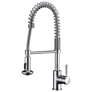 Eclipse Single-Handle Pull-Down Sprayer Kitchen Faucet in Polished Chrome