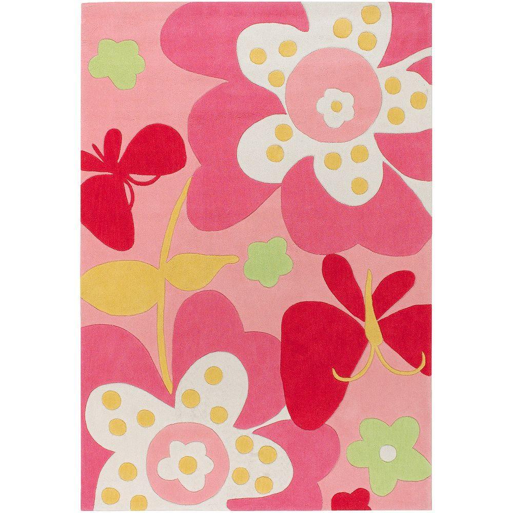 Holdrege Pink 6 ft. x 9 ft. Area Rug