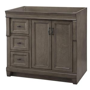 Home Decorators Collection Naples 36 inch W Bath Vanity Cabinet Only in Distressed Grey... by Home Decorators Collection