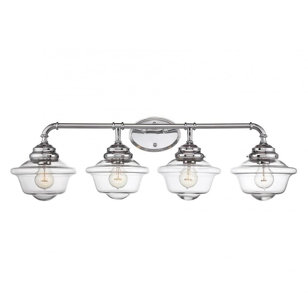 Filament Design Mckay 4 Light Chrome Bath Vanity Light Cli Sh0250804 The Home Depot