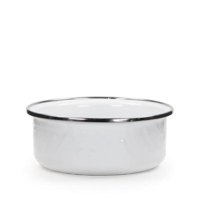 Solid White 14 oz. Enamelware Soup Bowl