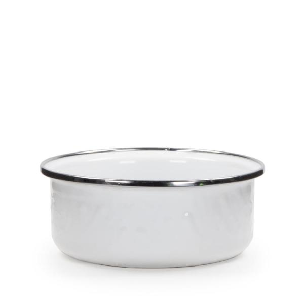 Golden Rabbit Solid White 14 oz. Enamelware Soup Bowl WW60