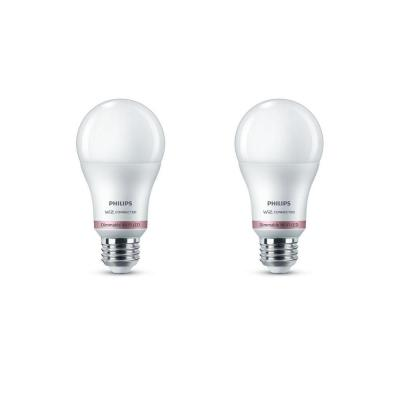 Soft White A19 LED 60-Watt Equivalent Dimmable Smart Wi-Fi Wiz Connected Wireless Light Bulb (2-Pack)