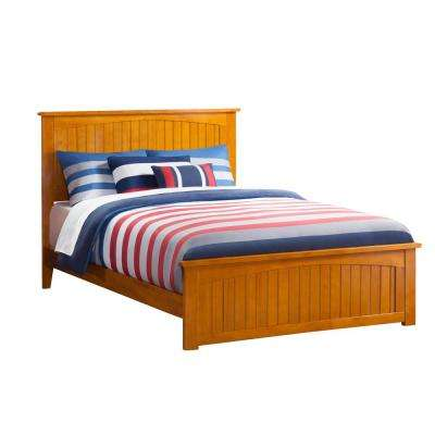 Nantucket Caramel Queen Traditional Bed with Matching Foot Board