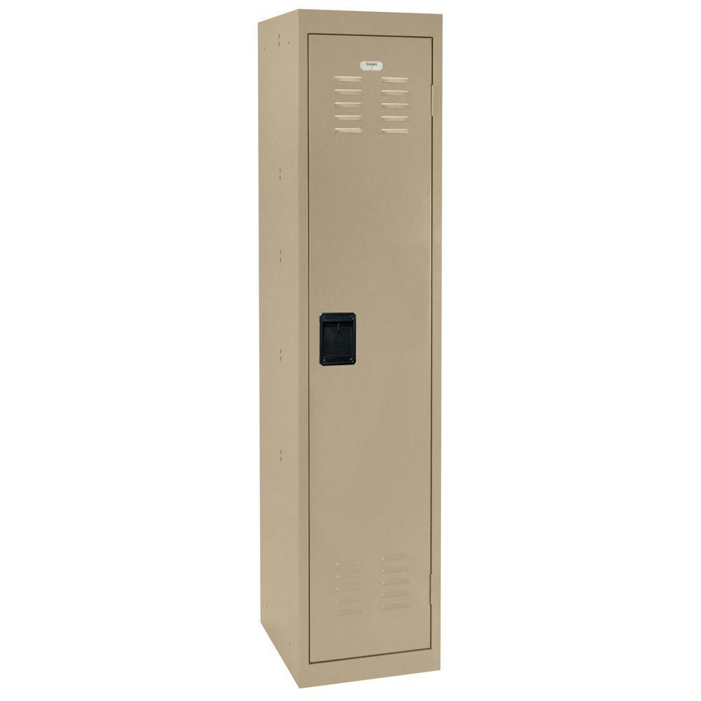 66 in. H Single-Tier Welded Steel Storage Locker in Tropic Sand