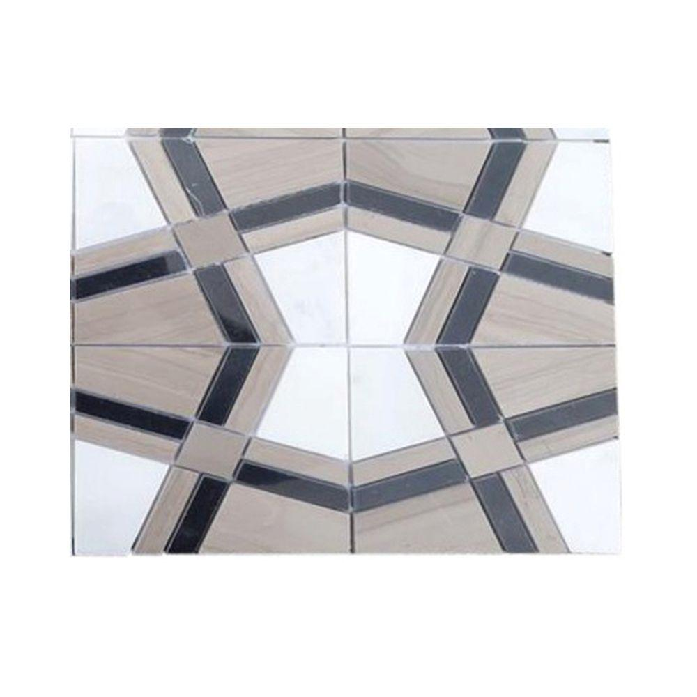 Splashback Tile Prism Sirocco Marble Floor and Wall Tile Sample