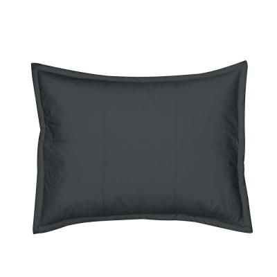 The Company Store LaCrosse Charcoal Gray Solid Cotton Standard Sham