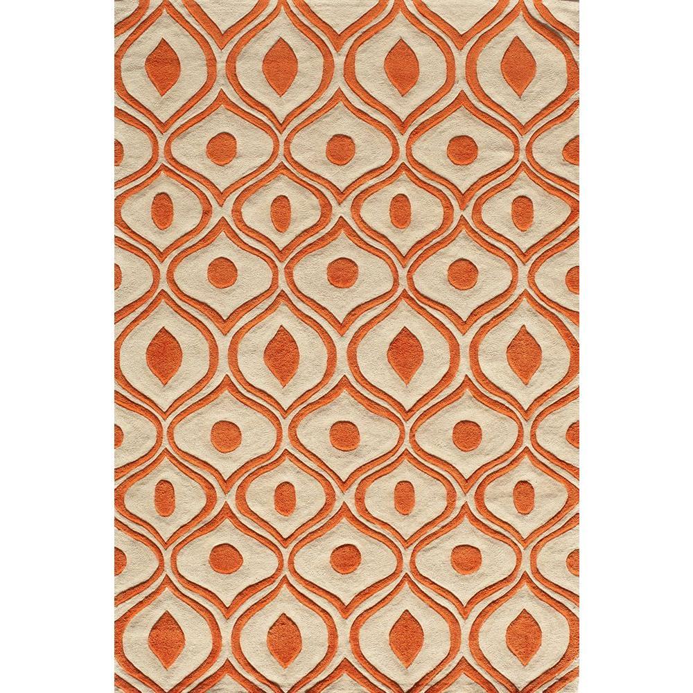 Momeni Ibiza Collection Orange 8 ft. x 10 ft. Indoor Area Rug