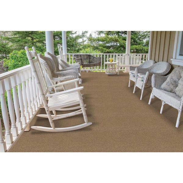 Trafficmaster Elevations Color Stone Beige Ribbed Texture Indoor Outdoor 12 Ft Carpet 7pd5n480144h The Home Depot