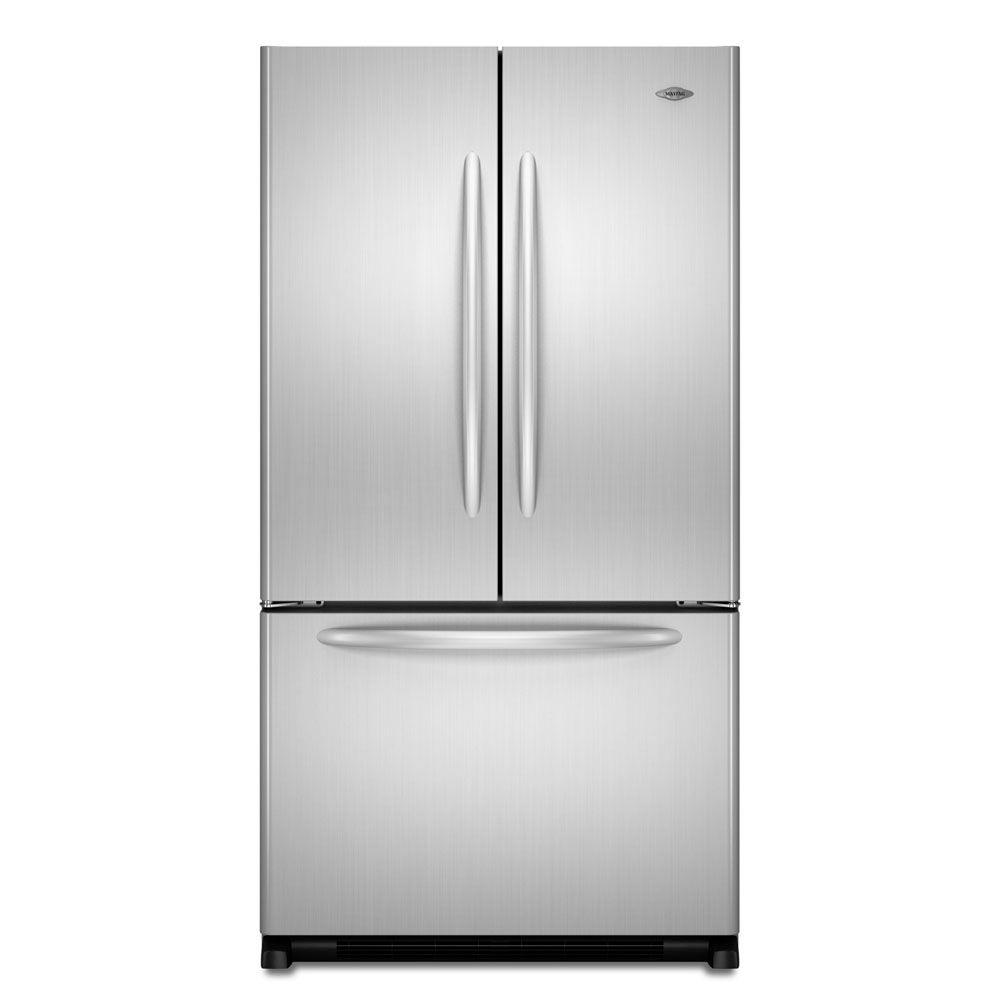 Maytag 19.6 cu. ft. French Door Refrigerator in Stainless Steel, Counter Depth-DISCONTINUED
