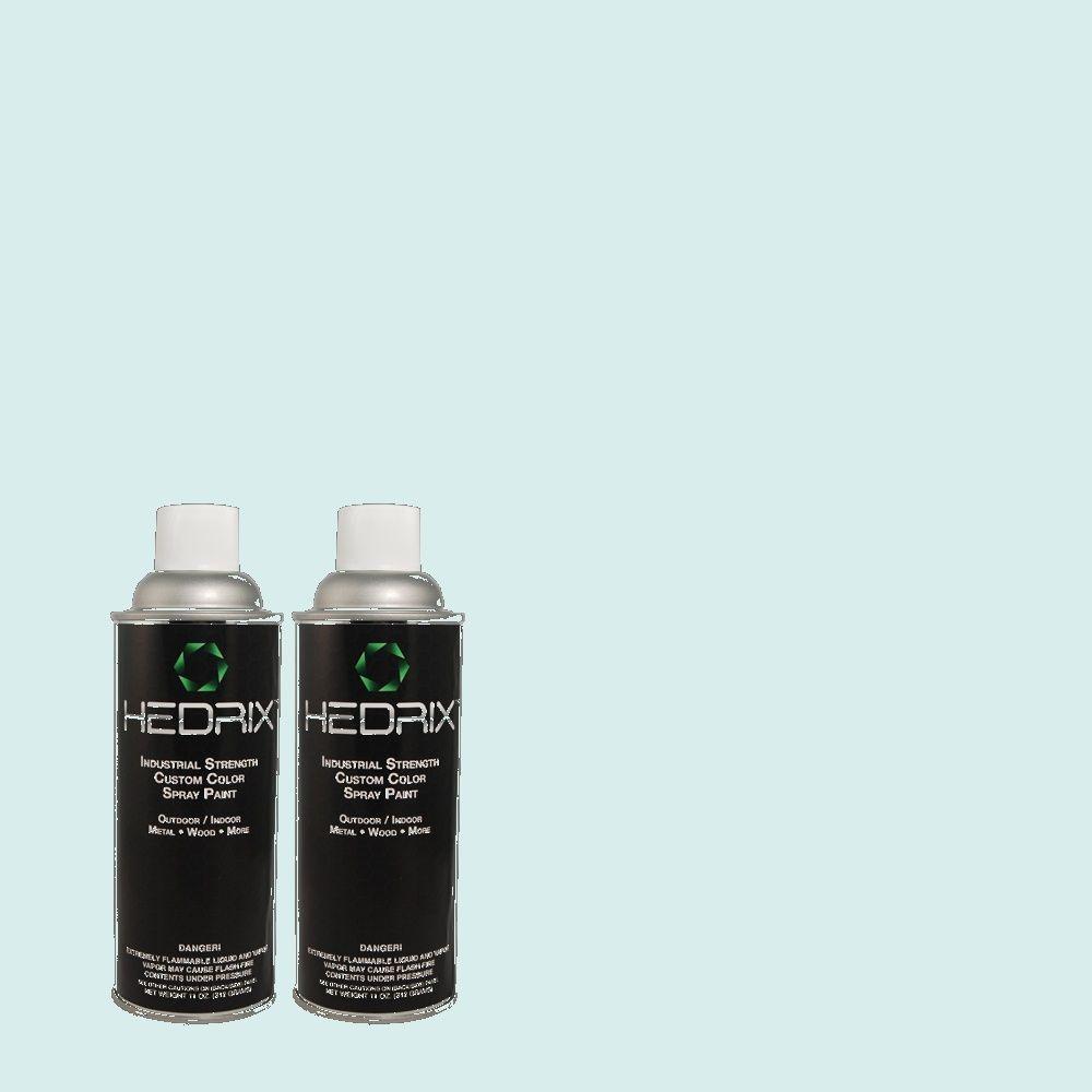 Hedrix 11 oz. Match of 1B45-1 Diana Blue Gloss Custom Spray Paint (2-Pack)