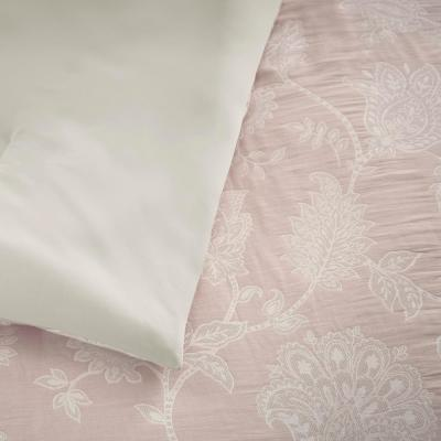 Florene 3-Piece Dusty Mauve Romantic Floral Comforter Set
