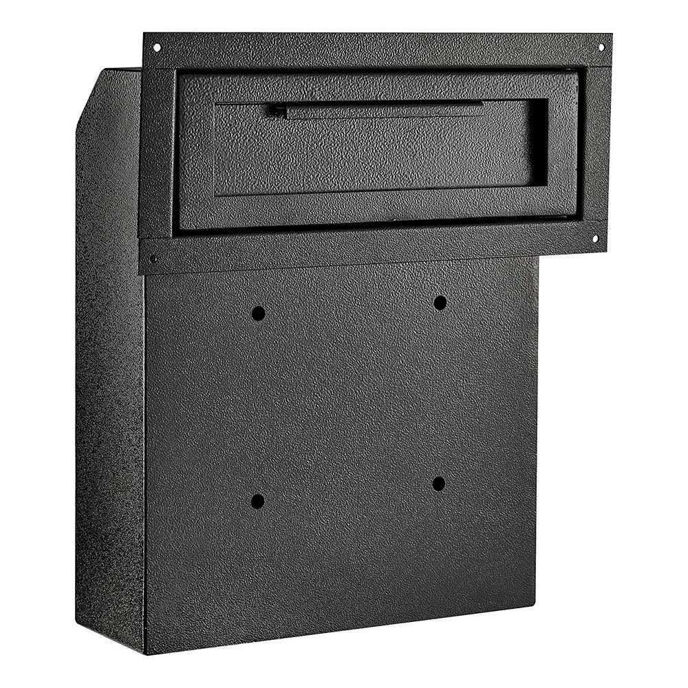 Black Through-The-Door Safe Locking Drop Box