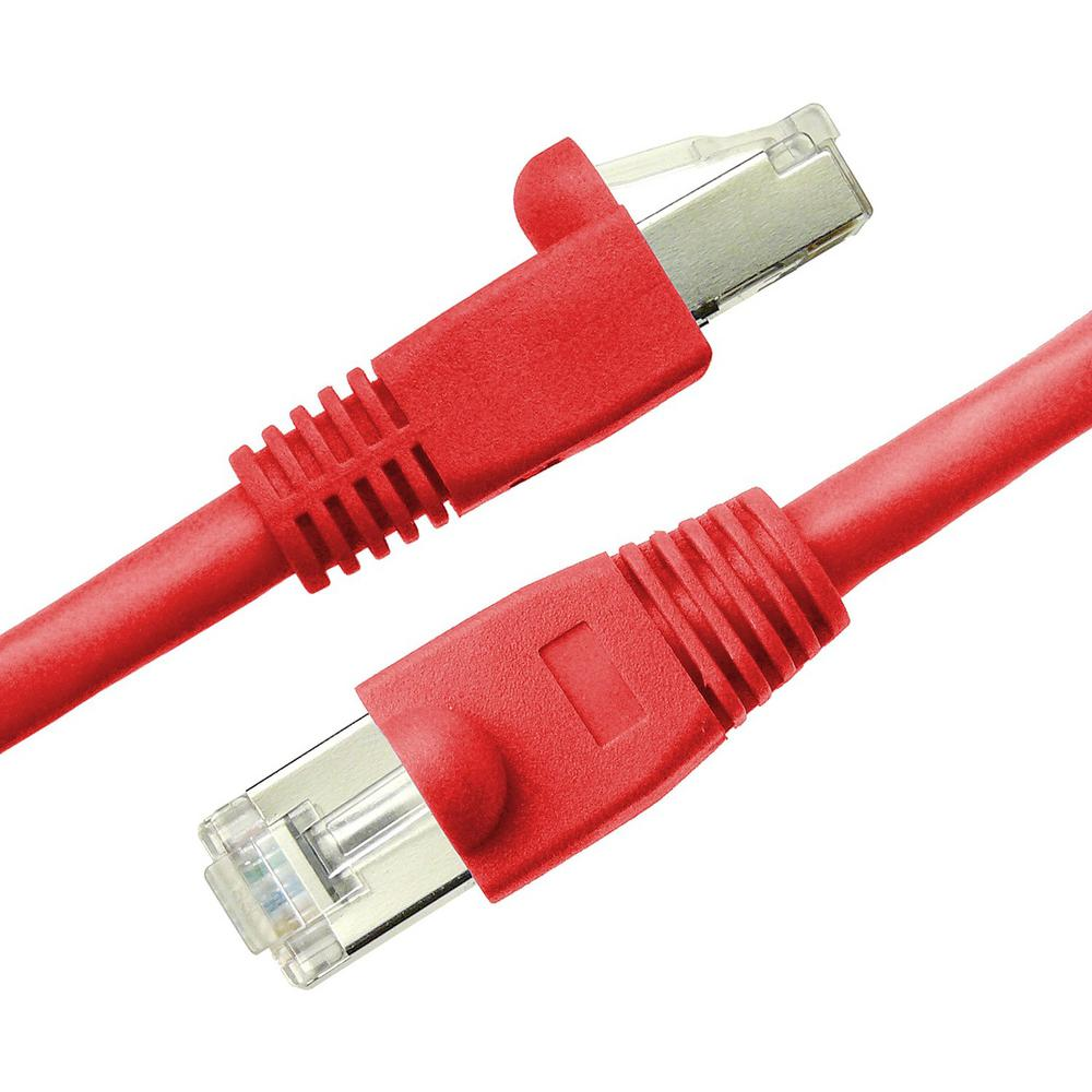 15 ft. Cat6a Snagless Shielded (STP) Network Patch Cable, Red
