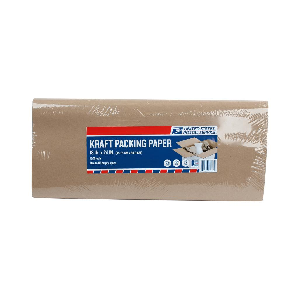 18 in. x 24 in. 23# Kraft Packing Paper (15 sheets)
