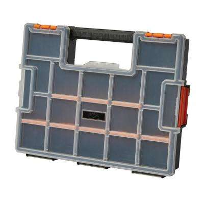 15-Compartment Wall Mount Pro JR Small Parts Organizer, Orange