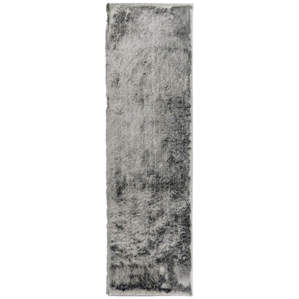 Home Decorators Collection So Silky Grey 2 ft. x 11 ft. Area Rug