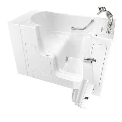 Gelcoat Value Series 52 in.Right Hand Walk-In Soaking Tub with Outward Opening Door in White