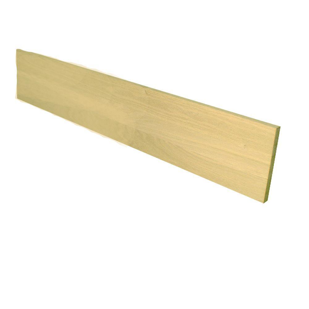 Stairtek 0.75 in. x 7.5 in. x 42 in. Builder Grade Unfinished Red Oak Riser